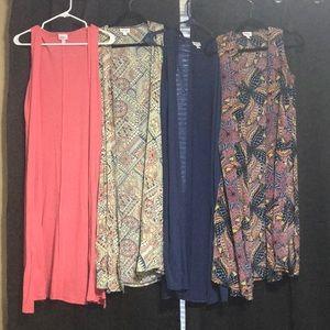 Four Lularoe Joy sleeveless coverups